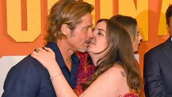 Lena Dunham awkwardly tries to kiss Brad Pitt at London premiere of 'Once Upon a Time ... in Hollywood'