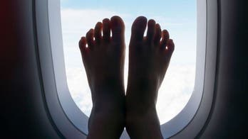 Comedian shames plane passenger who put bare, 'dirty' feet on in-flight screen