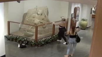 Honolulu police searching for suspect who vandalized hotel sand sculpture