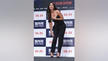 Megan Fox wows in South Korea promoting 'Battle of Jangsari' war flick