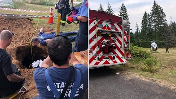 Oregon woman rescued from septic tank after being trapped in raw sewage for days, officials say
