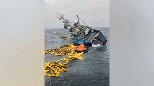 Coast Guard rescues 37 from capsized fishing boat off Central American coast
