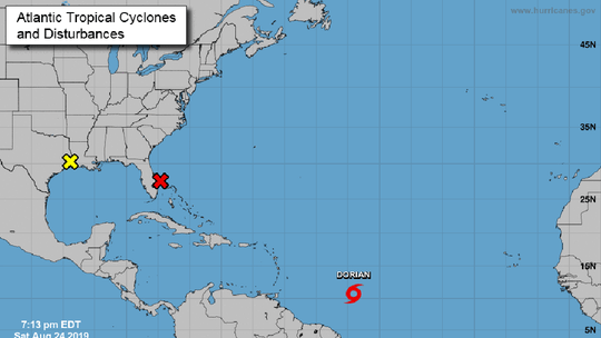Tropical Storm Dorian forms in Atlantic, could become hurricane by Tuesday