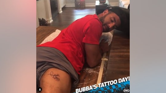NASCAR's Bubba Wallace got Richard Petty's name tattooed in a surprising spot