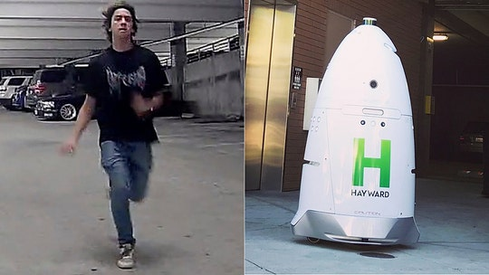 California police seek suspect who allegedly attacked 400-pound robot security guard