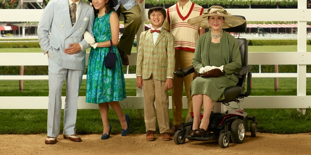 "ABC's ""Fresh Off the Boat"" stars Randall Park as Louis Huang, Constance Wu as Jessica Huang, Hudson Yang as Eddie Huang, Ian Chen as Evan Huang, Forrest Wheeler as Emery Huang and Lucille Soong as Grandma Huang. (ABC/Bob D'Amico)"