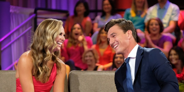 Hannah (L) and Tyler reconnected on the live finale Tuesday night.