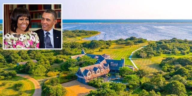 The Obamas' home on Martha's Vineyard. (Realtor.com; Pete Souza/Official White House Photo)