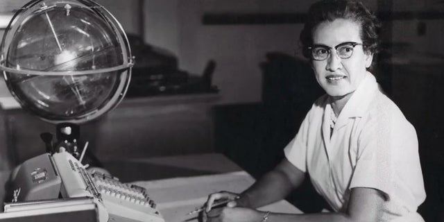 Katherine Johnson, pictured here at NASA's Langley Research Center, where she worked as a computer and mathematician from 1953 to 1986. (AP)