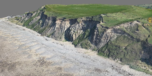 A 3D digital model of the Dinas Dinlle fort. (CHERISH Project)