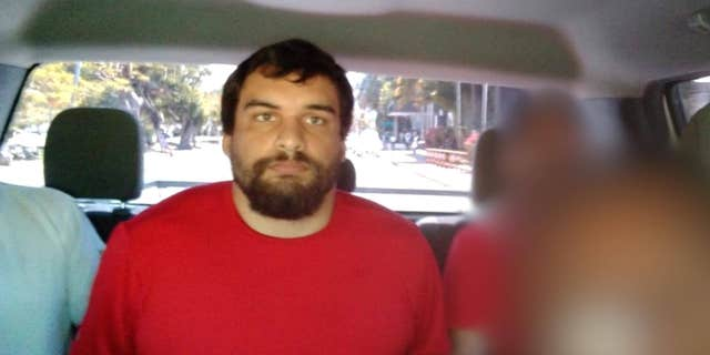 Dylan Bennett is pictured after his arrest in Cancun. (Courtesy of Mexican authorities/Todd County Sheriff's Office)