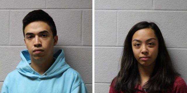 Brayan Cortez and Jamie Montesa face misdemeanor charges after being accused of taunting a 91-year-old dementia patient, authorities say. [Glenview Police Department)