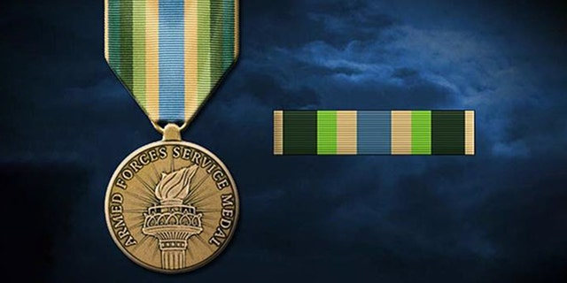 """The Armed Forces Service Medal is awarded to troops involved in """"significant"""" military activity and """"encounter no foreign armed opposition or imminent threat of hostile action,"""" according to the Defense Department."""