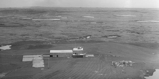 This June 1971 photo shows the facility and cement pad at ground zero on Amchitka Island, Alaska, where a 1-megaton nuclear blast was detonated about 4,000 feet underground in 1969. (AP Photo, File)