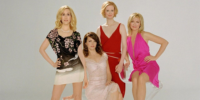 """섹스 앤 더 시티"" cast from left to right: Sarah Jessica Parker, Kristin Davis, Cynthia Davis and Kim Cattrall."