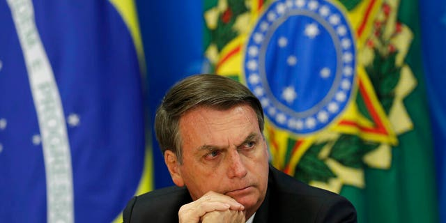 "Brazil's President Jair Bolsonaro, seen here, ""doesn't deserve"" any respect, trust or dignity, the author said."
