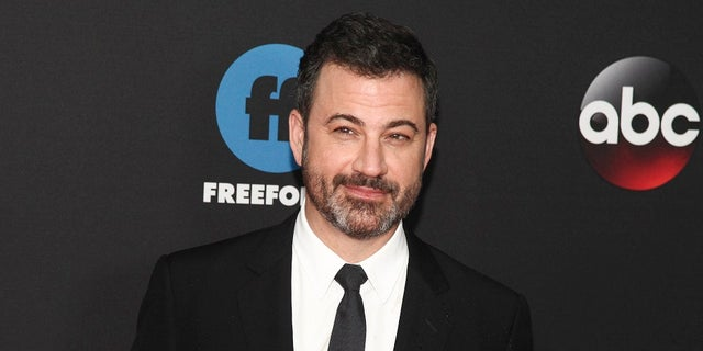 Jimmy Kimmel attends the Disney/ABC/Freeform 2018 Upfront Party at Tavern on the Green in New York.