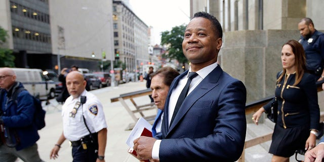 FILE - In this file photo of June 13, 2019, Cuba Gooding Jr. leaves the New York Criminal Court. A New York judge rejected the request of actor Cuba Gooding Jr. to reject his case. (AP Photo / Frank Franklin II, file)