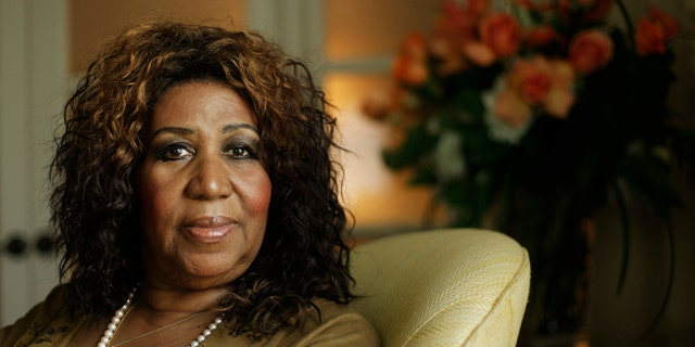 Aretha Franklin is seen in Philadelphia, July 26, 2010. (Associated Press)