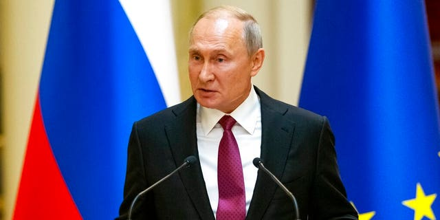 Russian President Vladimir Putin speaks during a news conference in Helsinki, Finland, Wednesday, Aug. 21, 2019.