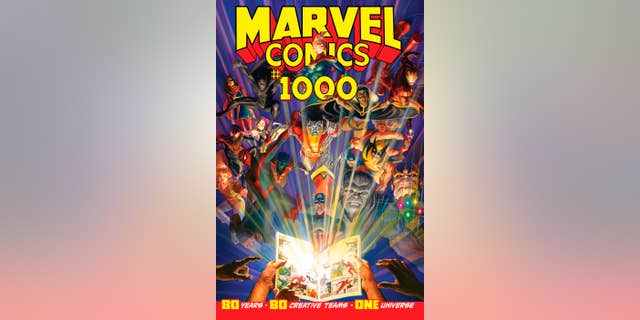 This image provided by Marvel Comics shows the cover of Marvel Comics #1000, the publisher's 80th anniversary issue.