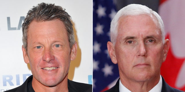 "Lance Armstrong later said his tweet about Vice President Mike Pene was a joke and that people need to ""lightin' the f--- up."""