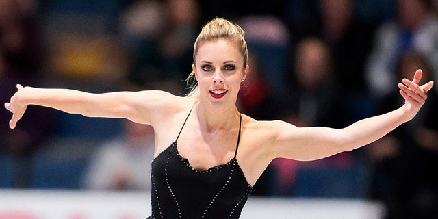 Ashley Wagner, pictured at the 2017 Skate Canada International ISU Grand Prix event in Canada in 2017, accused the late John Coughlin of sexually assaulting her in 2008.