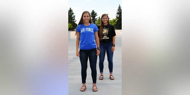 Aubrie and Emma Kuhrt, twin sisters from Texas, split to attend separate U.S. military academies. (U.S. Air Force Academy Public Affairs)