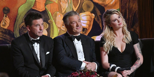 "Billy Baldwin, Alec Bladwin and Ireland Baldwin attend ""Spike's One Night Only: Alec Baldwin"" at The Apollo Theater on June 25, 2017 in New York City."
