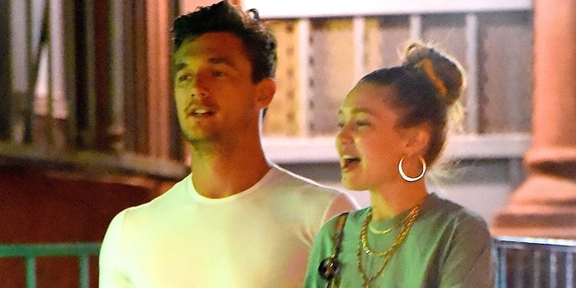 Tyler (L) and Gigi (R) out in New York City.