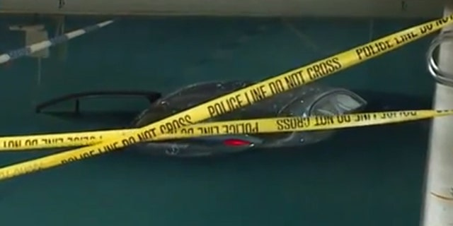 Police confirmed to Fox News that the man drove his car through the building and into the pool around 7:40 a.m.