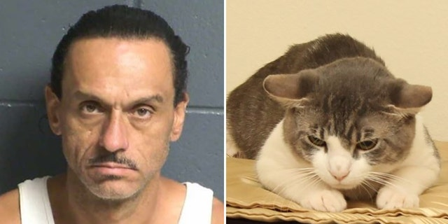 Aaron Spaulding allegedly neglected his two pets, a dog and a cat, police said.