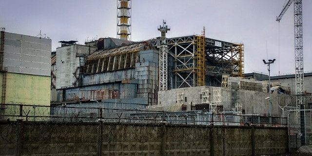 Ruined reactor of the Chernobyl nuclear power plant, in in 2016