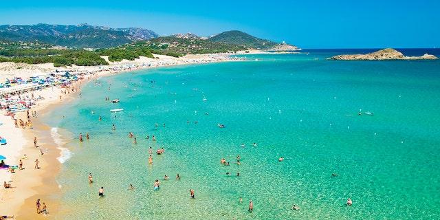 Panorama of the beaches of Chia, Sardinia, Italy. (iStock)
