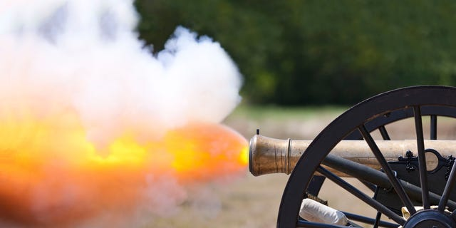 "Deadline described ""Dishmantled"" as ""a high-octane cooking competition that will literally blow your socks off."" (The show will likely use a cannon much less powerful than pictured here. Hopefully.)"