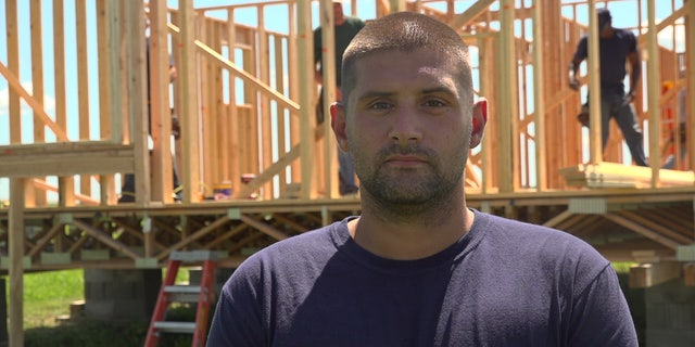Joshua Goemaat is one of six inmates chosen from Newton Correctional Facility in Iowa to participate in a new apprenticeship program that trains inmates to construct new homes. FOX NEWS/MITTI HICKS