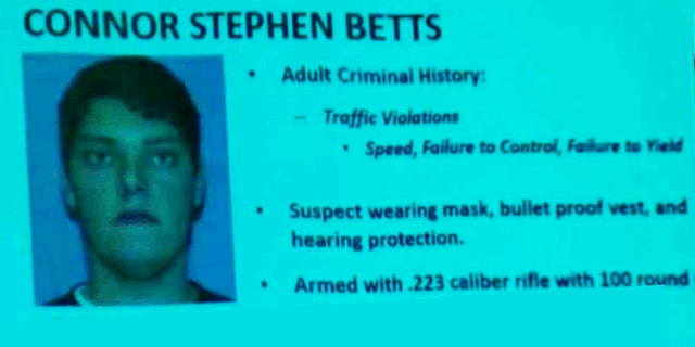 Police identified the suspect as 24-year-old Connor Betts.
