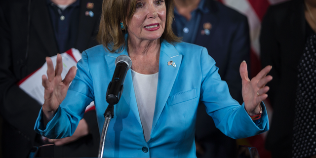 U.S. House Speaker Nancy Pelosi has struggled to rein in Democrats pushing for impeachment. (AP Photo/Oliver de Ros)