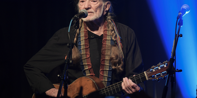 Willie Nelson performs at the Producers & Engineers Wing 12th Annual GRAMMY Week Celebration at the Village Studio in Los Angeles