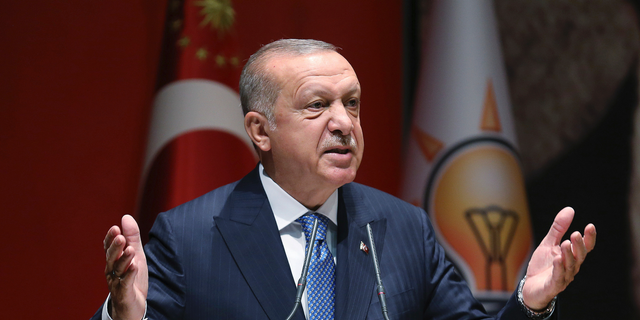 Turkey's President Recep Tayyip Erdogan, seen here in July 2019, fought for his country's right to acquire nuclear weapons. (Associated Press)