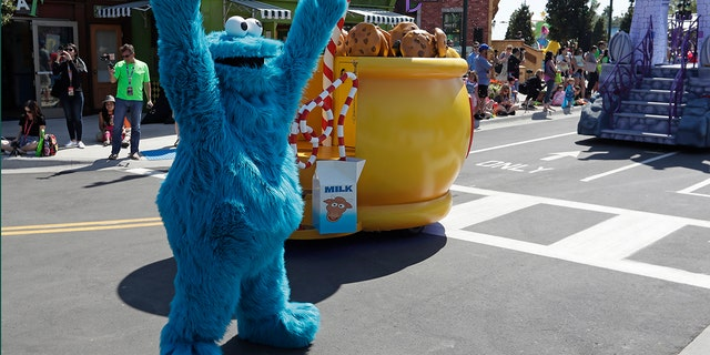 The Cookie Monster, pictured here during a parade in Orlando, Fla., in March, was seen on an alleged cookie thief's shirt last month in Oregon, police said.