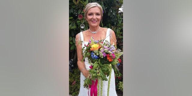 Winfield-Hunt on her wedding day.