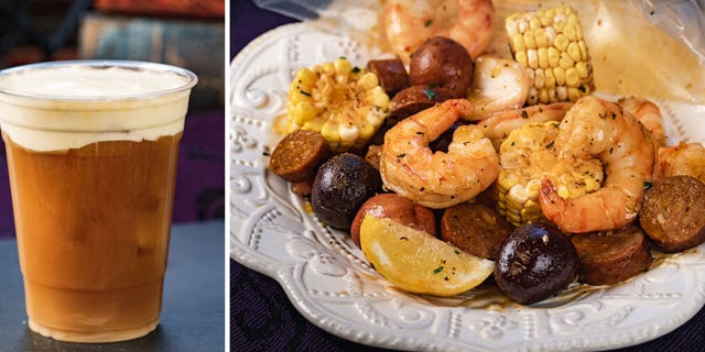 The Harbour Galley is offering 13th-Hour Brew – iced coffee with vanilla cream — and the Ghost Mariner's Seafood Boil, containing Cajun buttered shrimp with red potatoes, corn, andouille sausage.