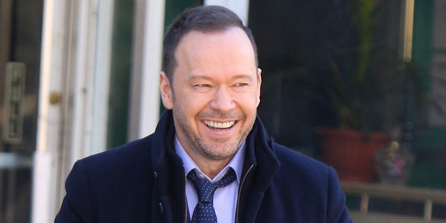"Donnie Wahlberg is seen filming ""Blue Bloods"" on March 12, 2019 in New York City. (Photo by Jose Perez/Bauer-Griffin/GC Images)"