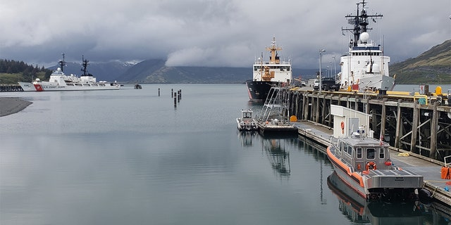 Coast Guard cutters, including the Douglas Munro (WHEC 724), sitting moored in Kodiak, Alaska, this past May. (U.S. Coast Guard photo by Ensign Jacob Marx, File)