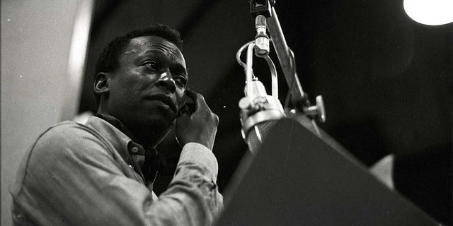 "Miles Davis during a recording session of ""Kind of Blue."" — Don Hunstein, Sony Music Archies"
