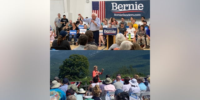Senators Elizabeth Warren and Bernie Sanders made swings through Franconia and Conway last week, dedicating large parts of their campaign speeches to climate change and environmental protections. (Allie Raffa/Fox News)