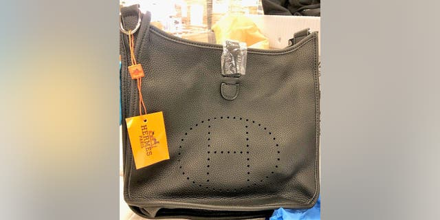 A counterfeit Hermes bag seized at LAX. (CBP Los Angeles)