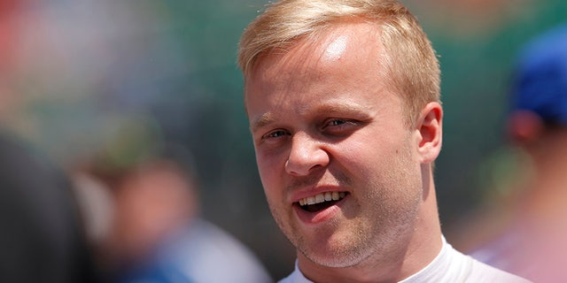 IndyCar driver Felix Rosenqvist was hospitalized after he was involved in a five-car wreck at Pocono. (Jeffrey Brown/Icon Sportswire via Getty Images, File)