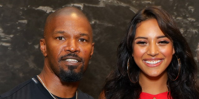Jamie Foxx and Sela Vave attend Michael B. Jordan's MBJAM at Dave & Buster's Hollywood.